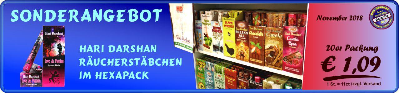 Räucherstäbchen Shop - Hari Darshan Räucherstäbchen 20er, 1,09 €