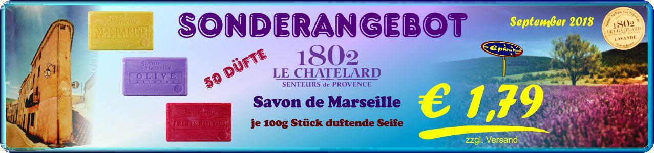 Savon de Marseille Le Chatelard 1802 Seifen 100g, 1,79 € - Duftartikel Shop