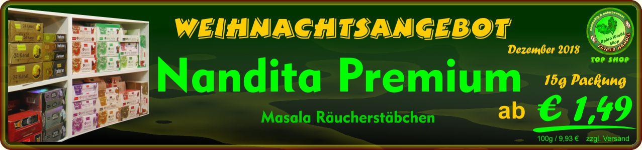 Räucherstäbchen Shop - Nandita Premium Masala Räucherstäbchen 15g, ab 1,49 €