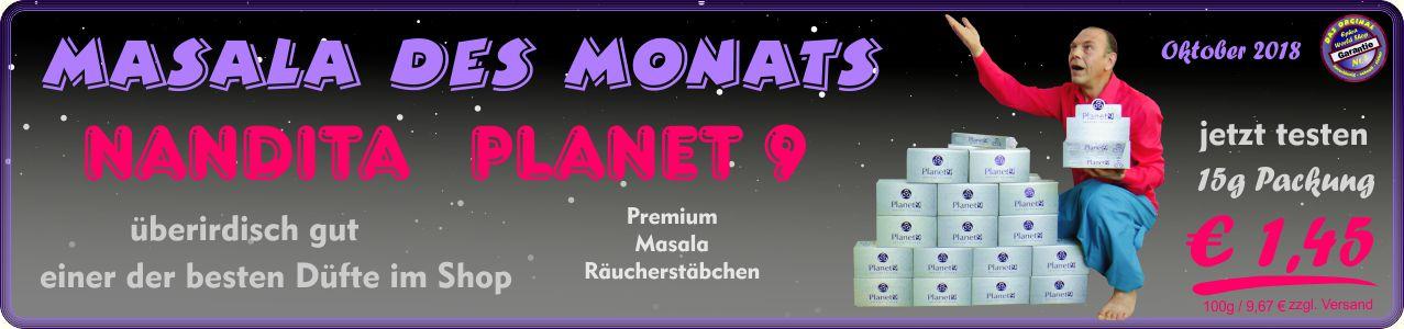 Räucherstäbchen Shop - Nandita Planet 9 Masala Räucherstäbchen 15g, 1,45 €