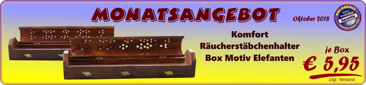 Räucherwerkzubehör - Komfort Räucherstäbchenhalter Box Motiv Elefanten 5,95 €