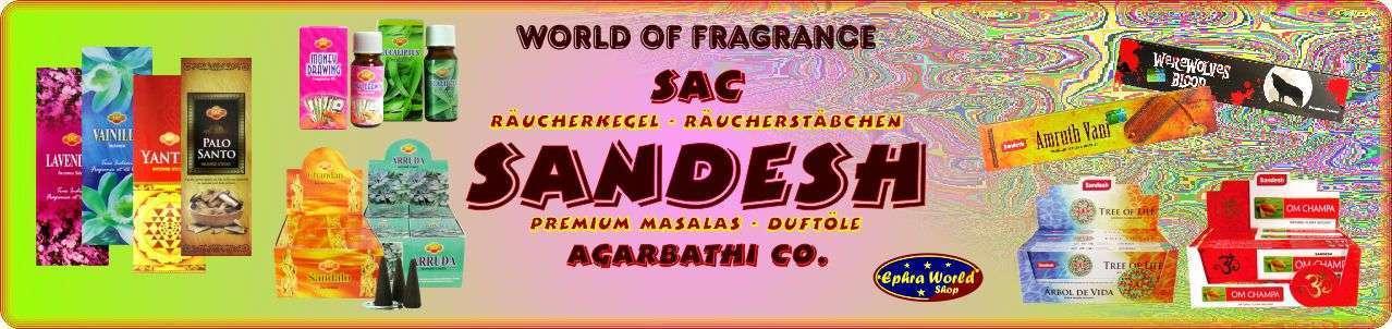 SAC Sandesh Agarbathi Co. Räucherstäbchen Räucherkegel Duftöle