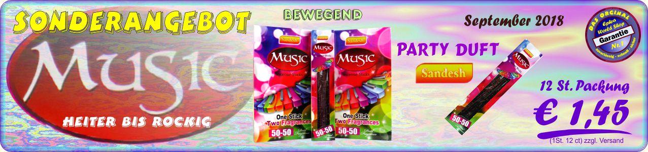 Sandesh Music Duo Masala Räucherstäbchen 12 St. 1,45 € - Räucherstäbchen Shop