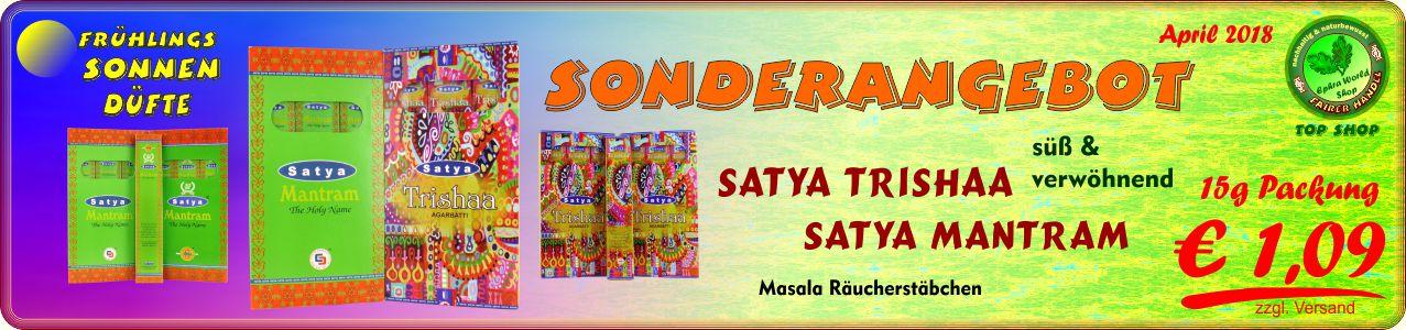 - Satya Mantram & Trishaa Masala Räucherstäbchen 15g, 1,09 €