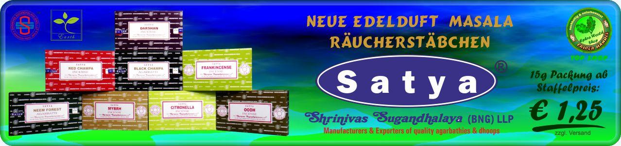 Ephra World Räucherstäbchen Shop - Satya Masala Räucherstäbchen (BNG) LLP neue Serie