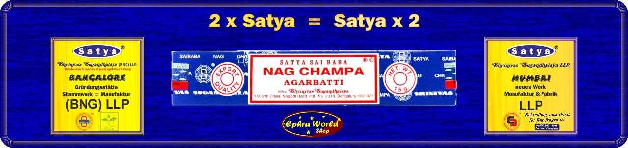 Satya - Shrinivas Sugandhalaya (BNG) LLP & LLP - Nag Champa Räucherstäbchen