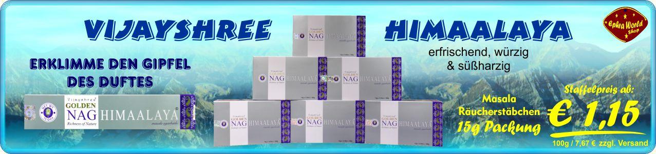 Räuchrstäbchen Shop - Vijayshree Golden Nag Himaalaya Masala Räucherstäbchen 15g, ab 1,05 €