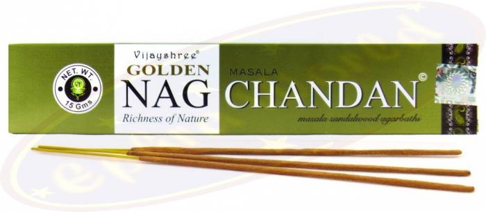 Golden Nag Chandan 180g Indische Räucherstäbchen Vijayshree Fragrance räuchern