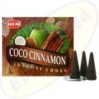 HEM Coconut Cinnamon indische Räucherkegel