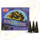 HEM Frankincense Myrrh indische Räucherkegel