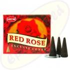 HEM Red Rose indische Räucherkegel