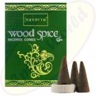 Nandita Wood Spice indische Premium Räucherkegel