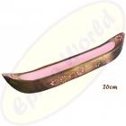 Räucherstäbchenhalter Boot Pink Holz 26cm