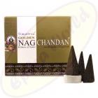 Vijayshree Golden Nag Chandan indische Räucherkegel