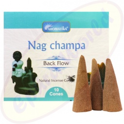 Aromatika Back Flow Nag Champa XL Räucherkegel