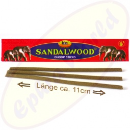 bic Brand Sandalwood Dhoop Sticks Long Size 10er