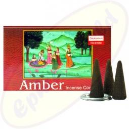 Darshan Amber indische Räucherkegel - Räucherkerzen