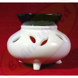Duftlampe Tinker in weiß schwarz aus Keramik