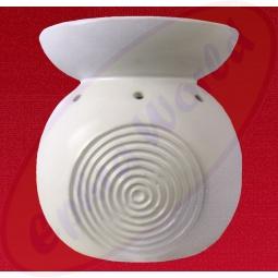 Duftlampe Ringe weiß Keramik 15 x 13,5cm
