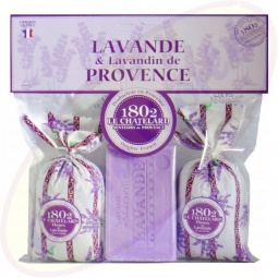 Le Chatelard 1802 Duftsäckchen Lavendel & Lavandin 2x18g & 100g Lavendel Seife