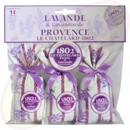 Le Chatelard 1802 Duftsäckchen Lavendel & Lavandin 3x18g