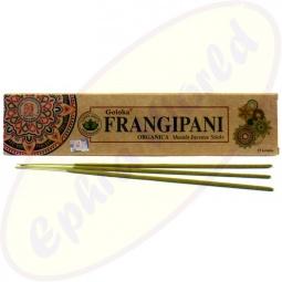Goloka Organica Frangipani indische Masala Räucherstäbchen