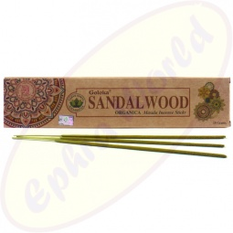Goloka Organica Sandalwood indische Masala Räucherstäbchen