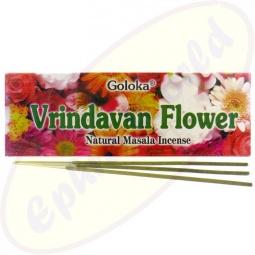 Goloka Vrindavan Flowers Masala Räucherstäbchen 100g