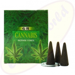 GR International Cannabis indische Räucherkegel