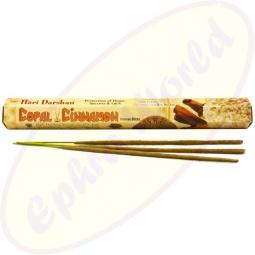 Hari Darshan Copal Cinnamon indische Masala Räucherstäbchen