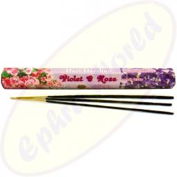 Hari Darshan Violet & Rose indische Räucherstäbchen