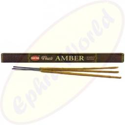 HEM Flora Amber indische Masala Räucherstäbchen