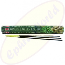 HEM Ginger & Green Tea indische Räucherstäbchen