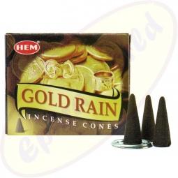 HEM Gold Rain indische Räucherkegel