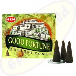 HEM Good Fortune indische Räucherkegel