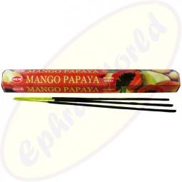 HEM Mango Papaya indische Räucherstäbchen
