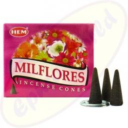 HEM Milflores indische Räucherkegel