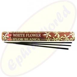 HEM White Flower indische Räucherstäbchen