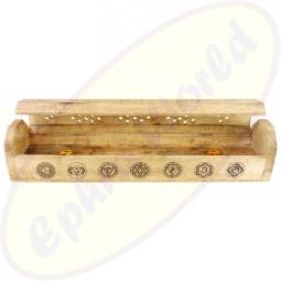 Komfort Räucherstäbchenhalter Box 7 Chakras Natur