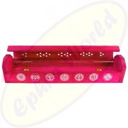 Komfort Räucherstäbchenhalter Box 7 Chakras Rot