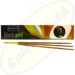 Nandita Black Gold indische Premium Masala Räucherstäbchen