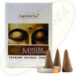 Nandita Mantra Meditation indische Premium Räucherkegel