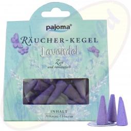 Pajoma indische Räucherkegel Lavendel
