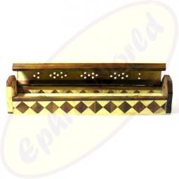 Komfort Räucherstäbchenhalter Box aus Holz Karomuster