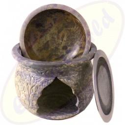 Räuchergefäß & Duftlampe Speckstein 1,5kg 14cm