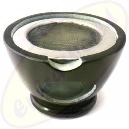Räuchergefäß in schwarz aus Speckstein mit Sieb 7x13cm