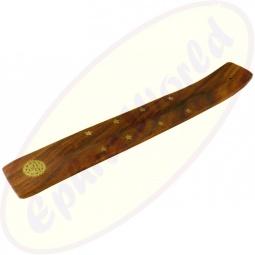 Räucherstäbchenhalter Holz Motiv Sonne 2