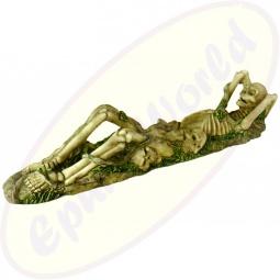 Räucherstäbchenhalter Skelett liegend Polyresin