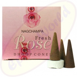 Satya Fresh Rose indische Räucherkegel