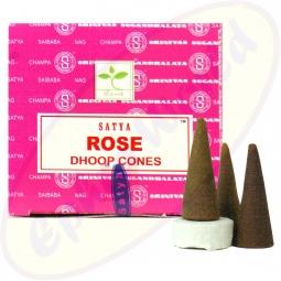 Satya Fresh Rose indische Räucherkegel